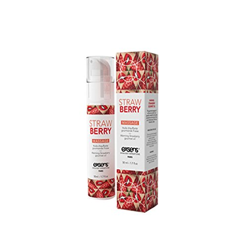 Strawberry Warming Gourmet Massage Oil by EXSENS