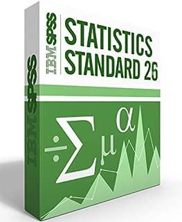 SPSS IBM Statistics Grad Pack Standard V26.0 12 Month License for 2 Computers Windows or Mac