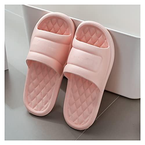 JINGGEGE Jengijo Hombres Summer Slippers Slippers Simple Negro Black Zapatos de baño Antideslizantes Tijeras de baño Flip Flozs Parejas de Plataforma Masculina Interior Zapatillas