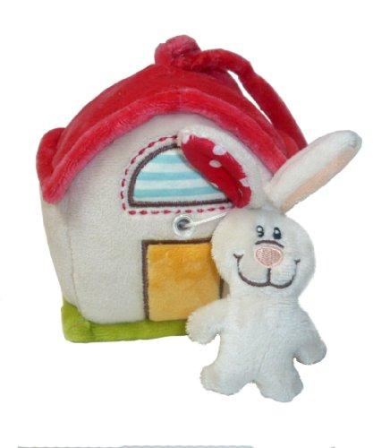 Nici My first Nici 33509 Tilly - Caja de música con forma de casa y conejo de peluche, 12 x 10 cm [importado de Alemania]