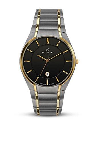 Accurist Reloj Análogo clásico para Hombre de Cuarzo con Correa en Titanio 7139.01