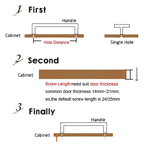 Manija del gabinete del cajón manija de los muebles de ferretería y herramientas (Colore : Hole to hole128mm)