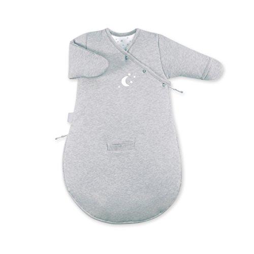 BEMINI Magic Bag slaapzak met mouwen – collectie Stary grijs gemêleerd – 0/3 maanden – 60 cm – van Pady Jersey