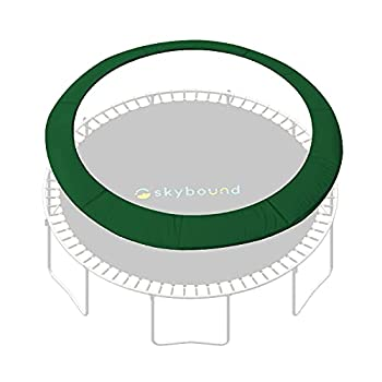 SkyBound 14 Foot Dark Green Trampoline Safety Pad - Spring Cover Fits Up to 7 Inch Springs - Standard