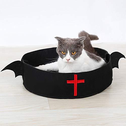 YZZ Holiday eenvoudige kat hond slapen matras huis, Halloween vleermuis kat kat nest & kerst oude man riem kat bed