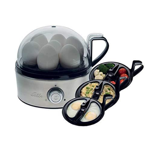 Solis Eierkocher für 7 Eier, Mit Härtegradeinstellung, Kochen und Dämpfen, Eiereinsatz und 2 Schalen, Egg Boiler & More Dampfgarer, Edelstahl