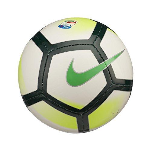 Nike - Balón de fútbol Pitch de la liga italiana de Serie A Tim de 2017/18, blanco, talla 4