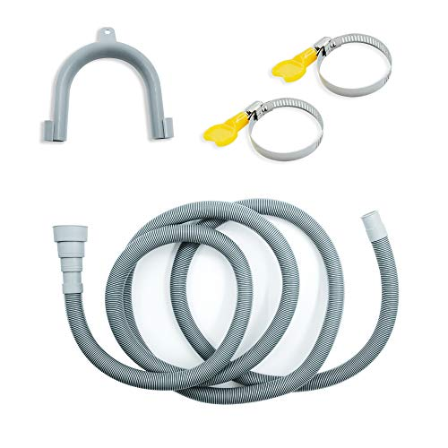 MAXSELL Universal Washing Machine Drain Hose, ,Washer Drain Hose Extension Kit with 2 Hose Clamps and U-Bend Hose Holder,Fits Up To 0.78-1.5inch(38-20 mm) Drain Outlets(10 ft)