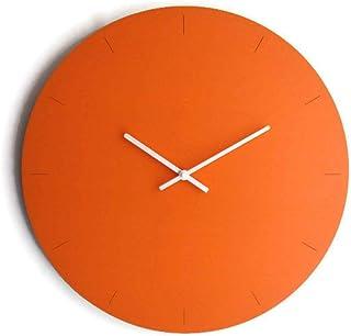 42cm Grande orologio da muro in legno tondo silenzioso colorato come arancione tucano Particolari orologi a parete analogi...