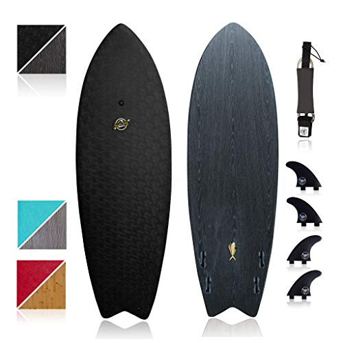 South Bay Board Co. - Hybrid Surfboards - Wax-Free Soft Top + Fiberglassed Bottom Deck Surfboard - FCSII Fin Boxes - Industry Leading Performance Hybrid Longboard & Shortboard Shapes for Kids/Adults