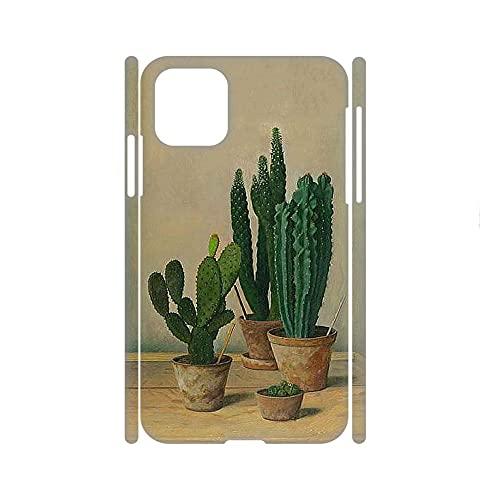 Caja De Teléfono De Plástico Compatible con iPhone 11Pro para Niño Hermosa Tener Cactus