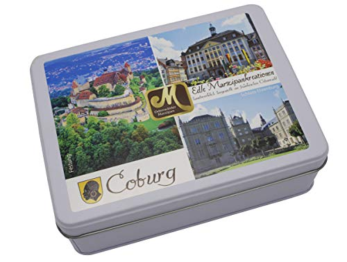 Coburg Motivdose mit Marzipan | 150 g Odenwälder Marzipan
