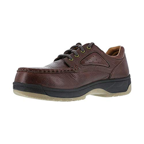 Florsheim Women's Compadre Oxford Work Shoes Steel Toe Brown US