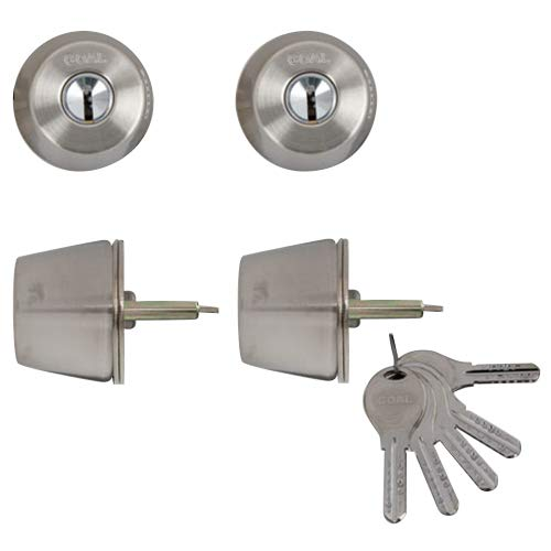 LIXIL(リクシル) TOSTEM ドア錠セット(GOAL V18シリンダー) ヘアーライン DCZZ1414