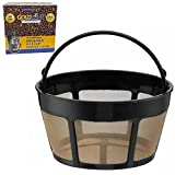 GOLDTONE Brand Reusable 8-12 Cup Basket Coffee Filter fits Cuisinart Coffee Makers and Brewers. Replaces your GTF-B Cuisinart Reusable Basket Coffee Filter - BPA Free (1)