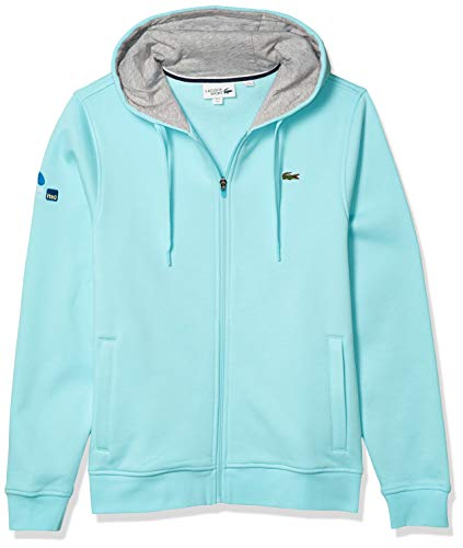 cool light blue men's hoodie