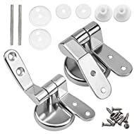 HQdeal Toilet Seat Hinges Fittings, Chrome Finished Toilet Seat Fittings and Fixtures Perfect for Mo...