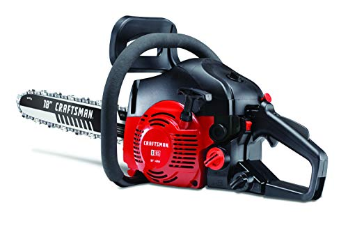 CRAFTSMAN 42cc-18 (2020 Model) S185 42cc Full Crank 2-Cycle Gas Chainsaw-18-Inch Bar and Automatic Chain Oiler-Carrying Case Included, Liberty Red