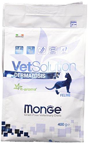 Monge Veterinary Solution Gatto Dermatosis GR. 400 Cibo Gatti, Multicolore, Unica