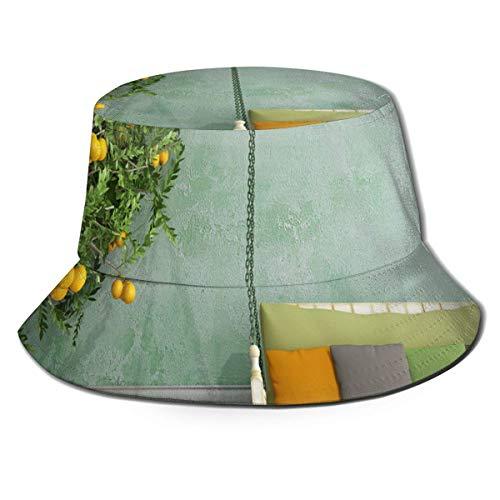 Gorras Vestido con jarras Sofá Sombrero de Pescador Adultos Sombrero de Cubo Pesca de Verano Fisher Beach Festival Gorra para el Sol