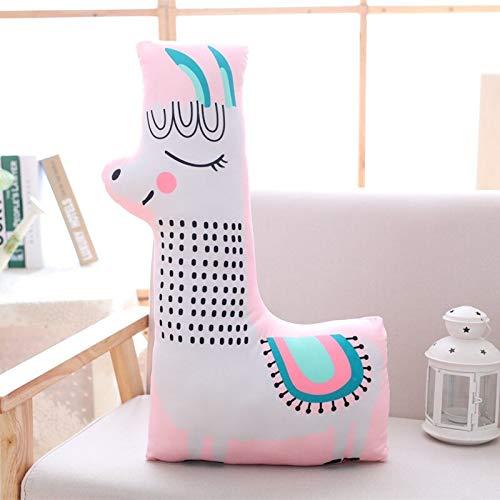 KXCAQ 47-65cm Animales Lindos Almohada de Felpa Juguetes de Jirafa de Dibujos Animados para niños Almohada para Dormir sofá cojín decoración de habitación Regalo de cumpleaños alpaca65cm