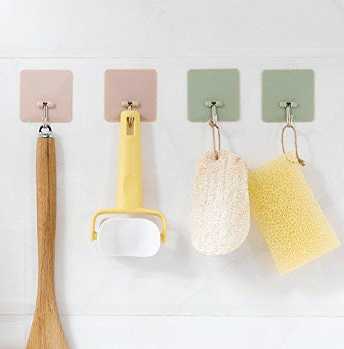 Morbuy Haken Selbstklebend Wandhaken, 10PCNail gratis Leistungsstark Adsorption Kleiderbügel Wasserdicht und ölabweisend Badezimmer Küche Wand Leave No Trace