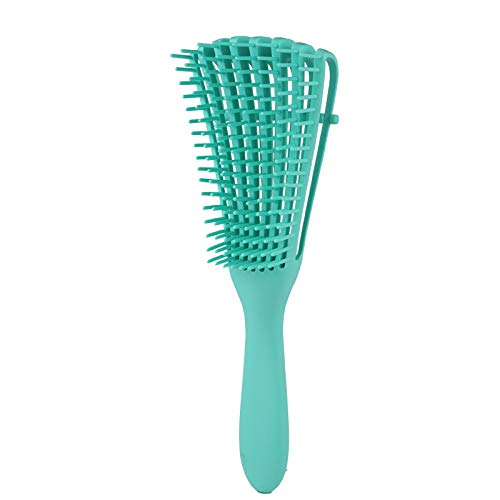 Cepillo Desenredante, Desenredante Para el cabello Peine de Pulpo de Plástico Integrado Para Afro América Texturizado 3a a 4c Pelo Rizado Ondulado Húmedo Seco Largo y Rizado (Verde)