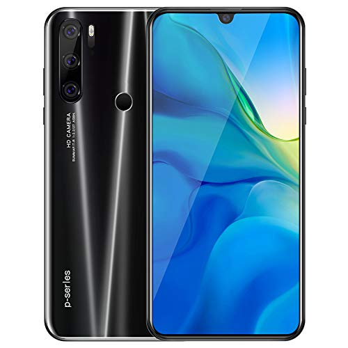Smartphone Libre 4G Android 9.0, 6.0 Pulgadas HD 6GB RAM 128GB ROM/128GB Escalable Quad-Core Teléfono Movil, Cámara 8MP 4800mAh Face IDTelefonos Moviles Libres 4g WiFi GPS P35pro