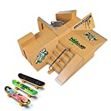HOMETALL Skate Park Kit, 5PCS Skate Park Kit Ramp Parts for Finger Skateboard Ultimate Parks Training Props. (8PCS)