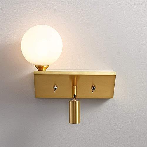 Waqihreu Nordic style wall lamp, modern and simple, bedroom bedside lamp, individual creative spotlight, living room, corridor lamp, gold wall lamp