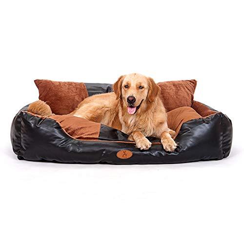 Sofá Cama Multifuncional para Mascotas, La Cama para Mascotas De Cuero De PU Es Extraíble Y Lavable Cama para Perros De Espuma Viscoelástica, Estilo Sofá,sofá Extraíble Lavable para Perros (M)