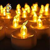 Best AGPtek Flameless Tea Lights - AGPtek 24 Pack Flameless Amber Yellow Wave Open Review