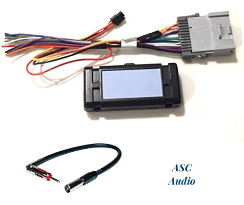 ASC Audio Premuim Car Stereo Radio Wire Harness and Antenna Adapter for Some GM Chevrolet 03-06 Silverado, Tahoe, Suburban, Sierra etc.- Built in 12 Volt Power Wire - Works w/wo Bose/Amp- No Y91Bose