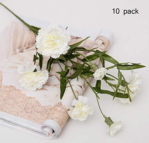 Sarazong Fleur Artificielle Carnation Bouquet Vase Décoration Fleur Salon Ameublement Faux Fleur Fleur Artificielle pour La Décoration Intérieure,B