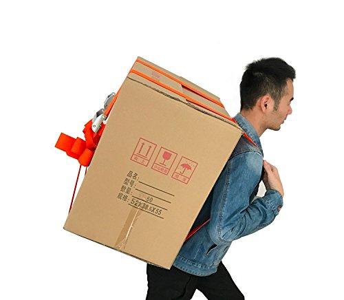 treasure-house 1-Person Heben und Verschieben Träger, leicht zu tragen Möbel/Kühlschrank/Appliance/Matratze/Schwere Gegenstände, mit über die Schulter Zughilfe Gürtel System
