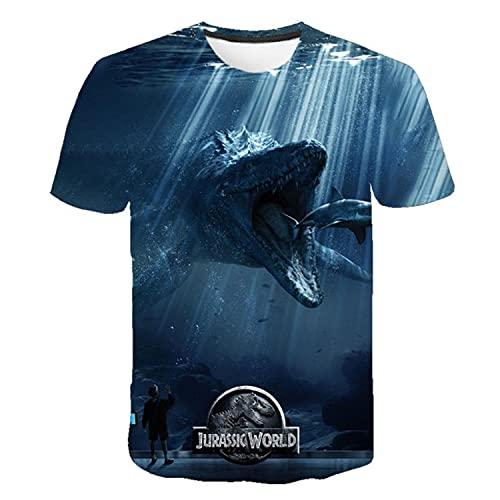 2021 Jurassic Park T-Shirt Dinosaur World T-Shirt Men Casual Funny Top Summer New 3D Printing Daily Cool O-Neck Oversized Shirt