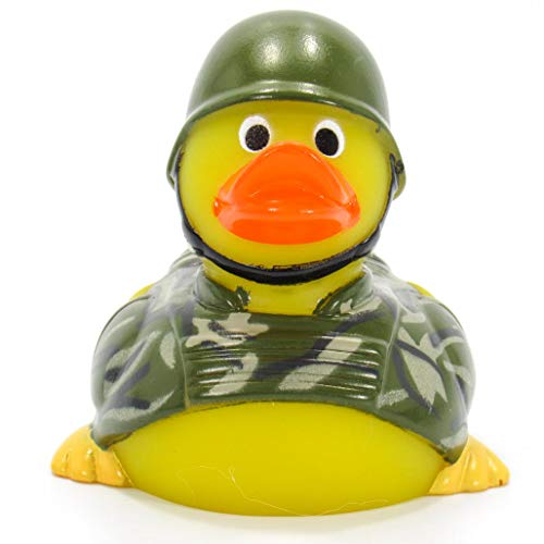 Ad Line Military Army Rubber Duck First Responder Bath Toy | Sealed Mold Free | Child Safe