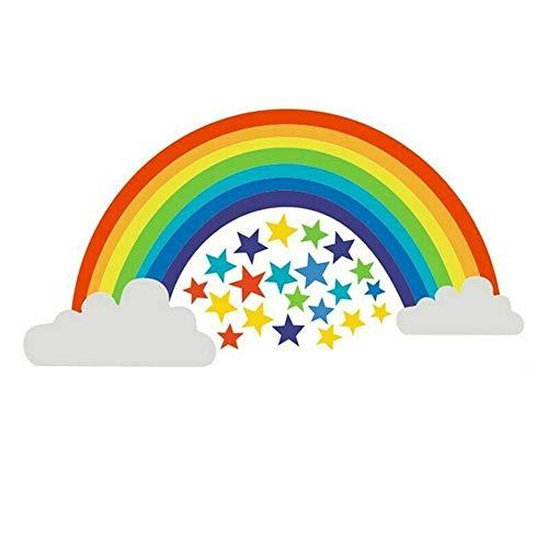 Gaosheng Rainbow vinilo pegatinas de pared habitación infantil dormitorio sala de juegos calcomanías hogar moda