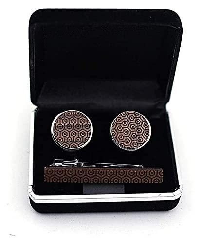 Walnut Brass Wood Tie Clip Heren Formele Bedrijfskleding Accessoires Geschenkdoos Set