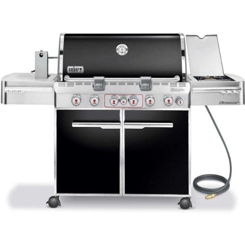 Weber 7471001 Summit E-670 6-Burner Natural Gas Grill, Black