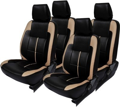 Khushal Leatherite Car Seat Covers Designer Front and Back Seat Cover Set for Chevrolet Beat Base Model LS Back Single seat