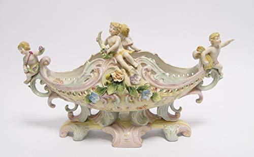 Casa Padrino Barock Schale Porzellan - Rokoko Engelsfiguren - Antik Stil