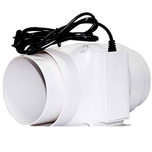 LXZDZ Ventilador de escape, ventilador de pared, ventana, campana para baño, ventilador silencioso para el hogar, ventilador de conducto, ventilación, extractor de limpieza de aire
