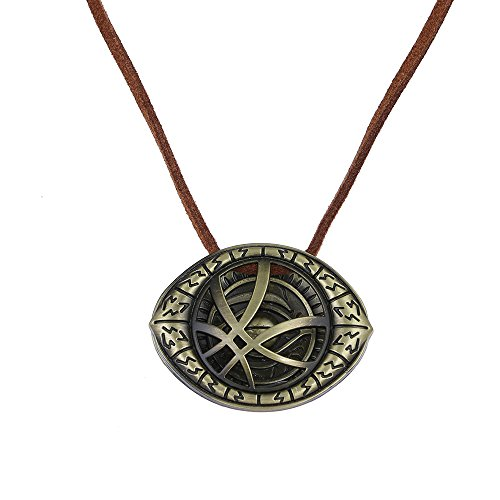 LUREME Doctor Strange Necklace Eye of Agamotto Costume Prop Infitinity Stone Pendant (nl005453)