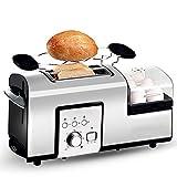 YHSFC Elektro-Edelstahl-Toaster Frühstück Sandwich Brotbackautomaten Eier Dampfkessel-Dampfer-Wilderer-Omelette Bratpfanne