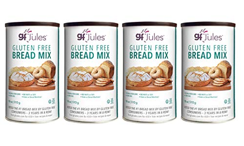 gfJules Gluten Free Sandwich Bread Mix - Voted #1 by GF Consumers, 1.11 lb Can, Pack of 4