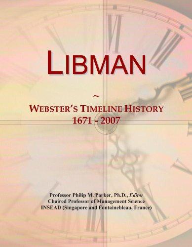 Libman: Webster's Timeline History, 1671 - 2007