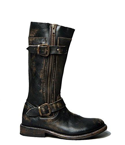 Bed|Stu Women's Gogo Leather Boot (6.5 B(M) US, Black Hand Wash)
