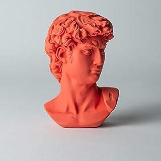 Dubai Vintage - 15CM Classic Greek Michelangelo David Bust Statue Replica Sculpture Figurine for Artist. (Red)