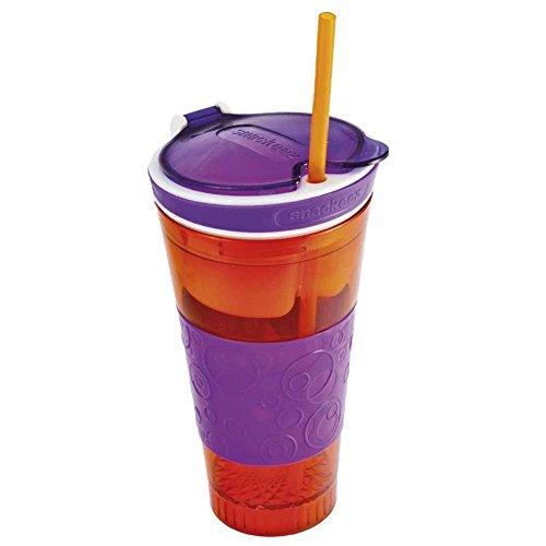 Snacky Magic - 2 in 1 Snack & Drink Becher - farbl. sortiert